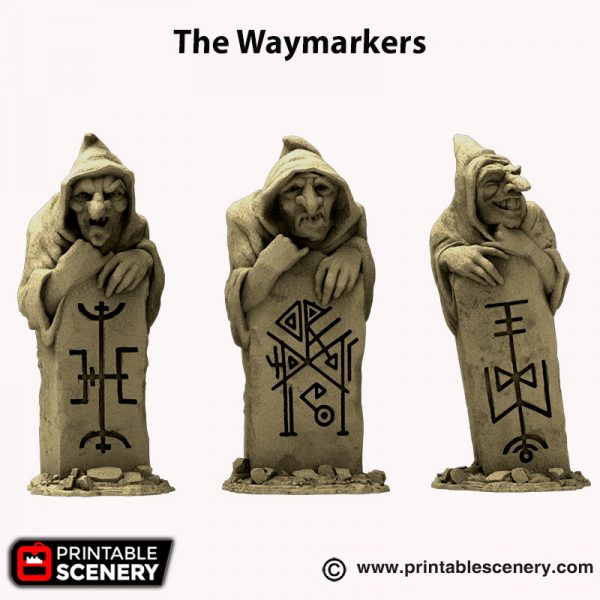 3D Printed Hagglethorn Hollow Waymarkers Age of Sigmar Dnd Dungeons and Dragons frostgrave mordheim tabletop games kings of war warhammer 9th age pathfinder rangers of shadowdeep