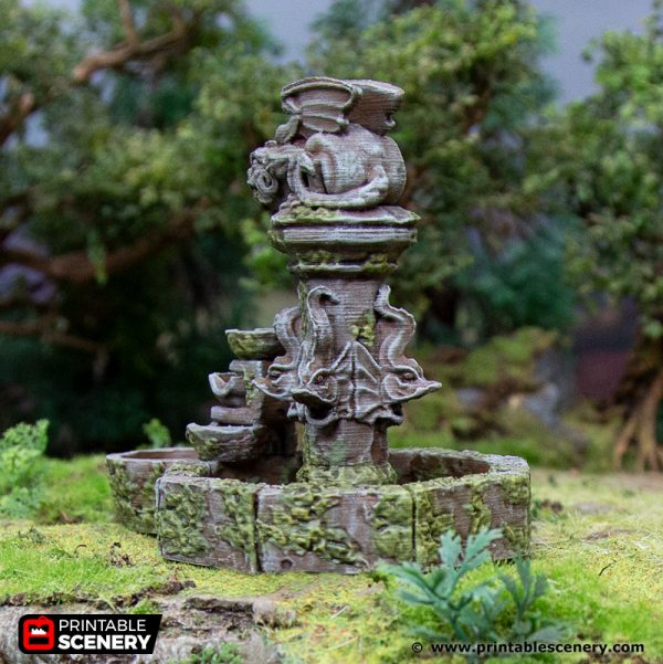 3D Printed Hagglethorn Hollow Fountain Age of Sigmar Dnd Dungeons and Dragons frostgrave mordheim tabletop games kings of war warhammer 9th age pathfinder rangers of shadowdeep