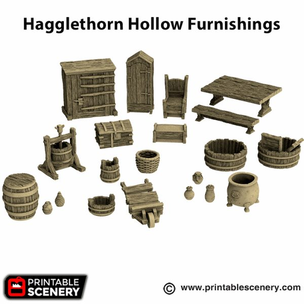 3d printed Hagglethorn Hollow Furnishings