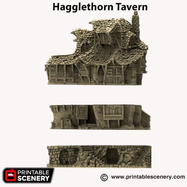 3d printed Hagglethorn Tavern