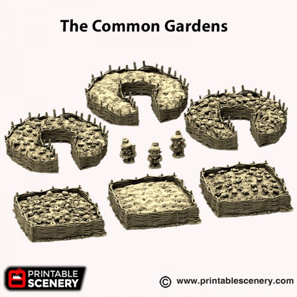 3d printed Hagglethorn Hollow gardens and gnomes
