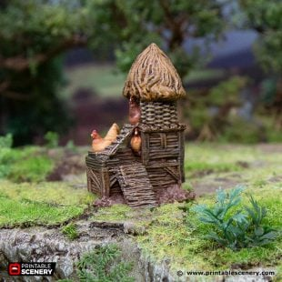 3D Printed Hagglethorn Hollow Hens Tower Age of Sigmar Dnd Dungeons and Dragons frostgrave mordheim tabletop games kings of war warhammer 9th age pathfinder rangers of shadowdeep