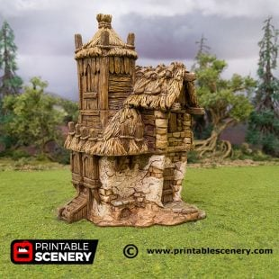 3D Printed Hagglethorn Hollow Homestead Age of Sigmar Dnd Dungeons and Dragons frostgrave mordheim tabletop games kings of war warhammer 9th age pathfinder rangers of shadowdeep