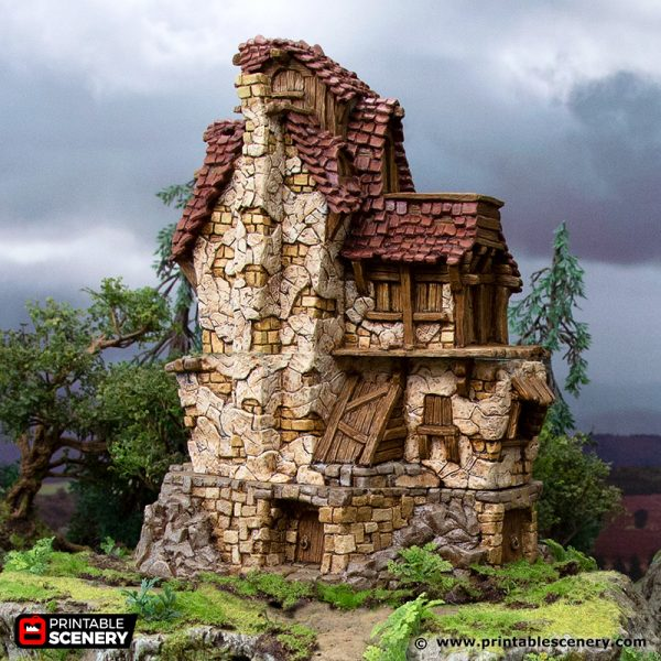 3D Printed Hagglethorn Hollow Hunters Lodge Age of Sigmar Dnd Dungeons and Dragons frostgrave mordheim tabletop games kings of war warhammer 9th age pathfinder rangers of shadowdeep