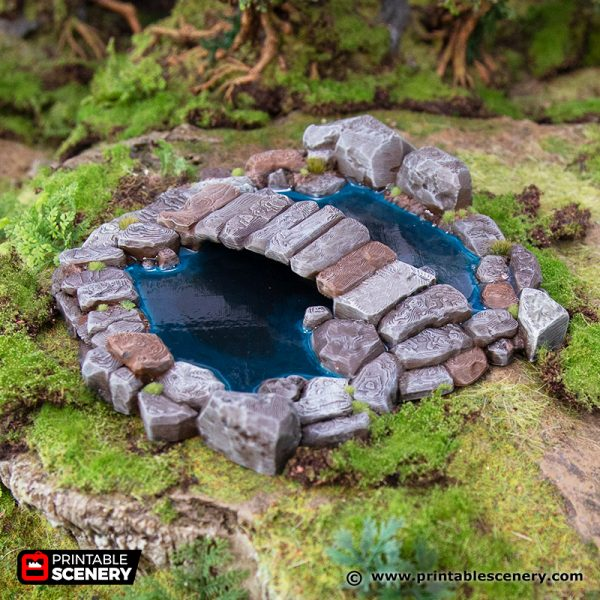 3D Printed Hagglethorn Hollow Lovers Pool Age of Sigmar Dnd Dungeons and Dragons frostgrave mordheim tabletop games kings of war warhammer 9th age pathfinder rangers of shadowdeep
