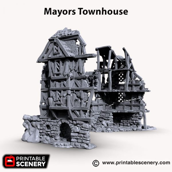 3d printed mayors townhouse ruins