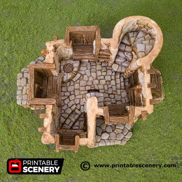 3D Printed Hagglethorn Hollow Chieftans Hall Age of Sigmar Dnd Dungeons and Dragons frostgrave mordheim tabletop games kings of war warhammer 9th age pathfinder rangers of shadowdeep