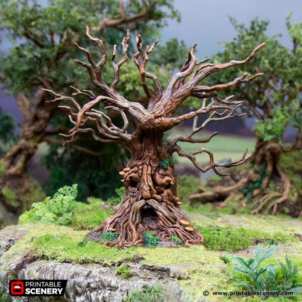 3D Printed Hagglethorn Hollow Sentient Trees Age of Sigmar Dnd Dungeons and Dragons frostgrave mordheim tabletop games kings of war warhammer 9th age pathfinder rangers of shadowdeep