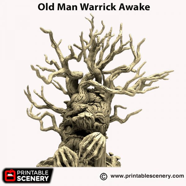 3d printed Old Man Warrick Awake Hagglethorn Hollow