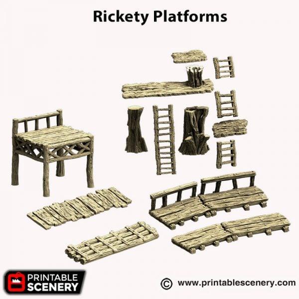 3d printed Rickety platforms Hagglethorn Hollow