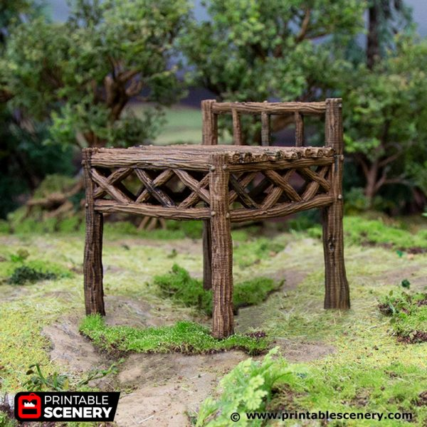 3D Printed Hagglethorn Hollow Rickety Platforms Age of Sigmar Dnd Dungeons and Dragons frostgrave mordheim tabletop games kings of war warhammer 9th age pathfinder rangers of shadowdeep