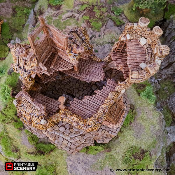 3D Printed Hagglethorn Hollow Ruined Cheiftains Hall Age of Sigmar Dnd Dungeons and Dragons frostgrave mordheim tabletop games kings of war warhammer 9th age pathfinder rangers of shadowdeep