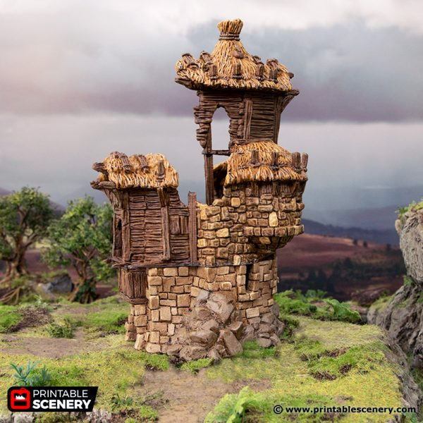 3D Printed Hagglethorn Hollow Ruined Barracks Age of Sigmar Dnd Dungeons and Dragons frostgrave mordheim tabletop games kings of war warhammer 9th age pathfinder rangers of shadowdeep