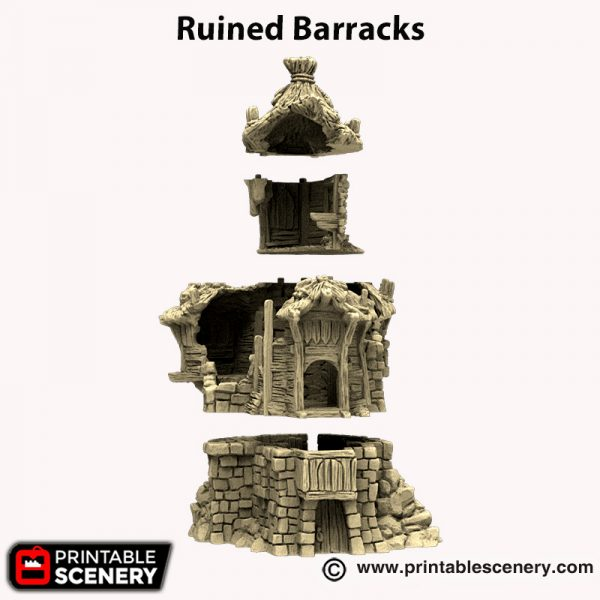 3d printed Ruined Barracks Hagglethorn Hollow