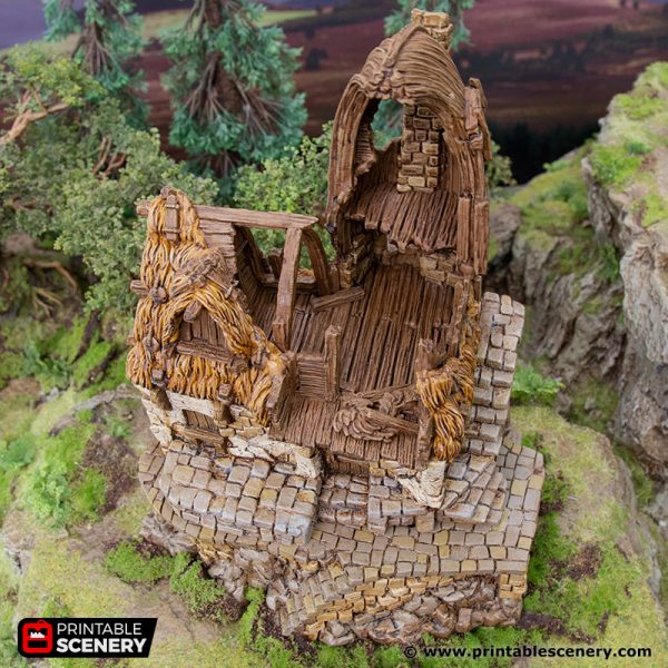 3D Printed Hagglethorn Hollow Ruined Fishermans Hut Age of Sigmar Dnd Dungeons and Dragons frostgrave mordheim tabletop games kings of war warhammer 9th age pathfinder rangers of shadowdeep