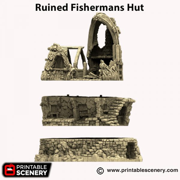 3d printed Ruined Fishermans Hut Hagglethorn Hollow