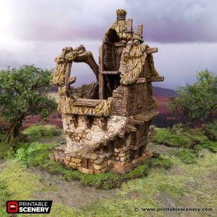 3D Printed Hagglethorn Hollow Ruined Homestead Age of Sigmar Dnd Dungeons and Dragons frostgrave mordheim tabletop games kings of war warhammer 9th age pathfinder rangers of shadowdeep