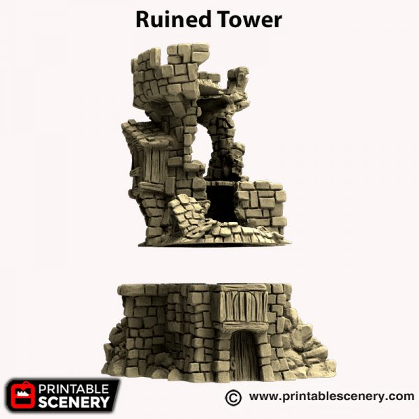 3d printed Ruined Tower Hagglethorn Hollow
