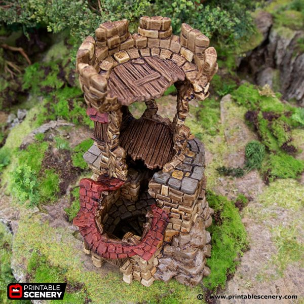 3D Printed Hagglethorn Hollow Ruined Tower Age of Sigmar Dnd Dungeons and Dragons frostgrave mordheim tabletop games kings of war warhammer 9th age pathfinder rangers of shadowdeep