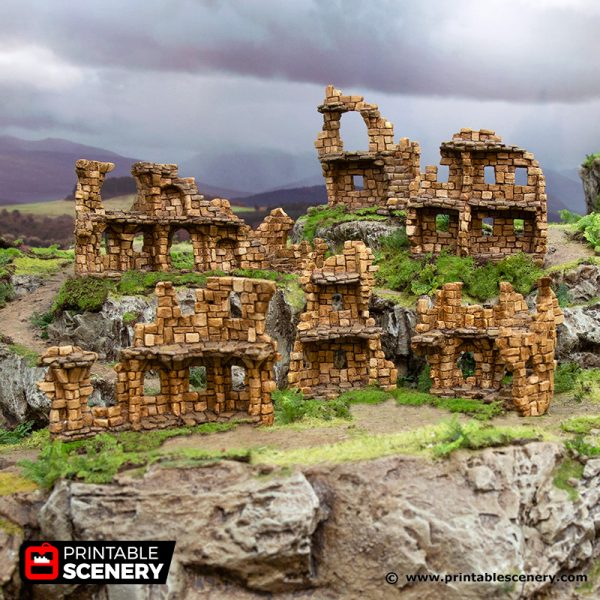 3D Printed Hagglethorn Hollow Ruins Age of Sigmar Dnd Dungeons and Dragons frostgrave mordheim tabletop games kings of war warhammer 9th age pathfinder rangers of shadowdeep