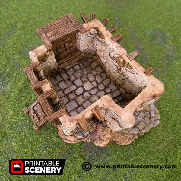3D Printed Hagglethorn Hollow Cottage Age of Sigmar Dnd Dungeons and Dragons frostgrave mordheim tabletop games kings of war warhammer 9th age pathfinder rangers of shadowdeep