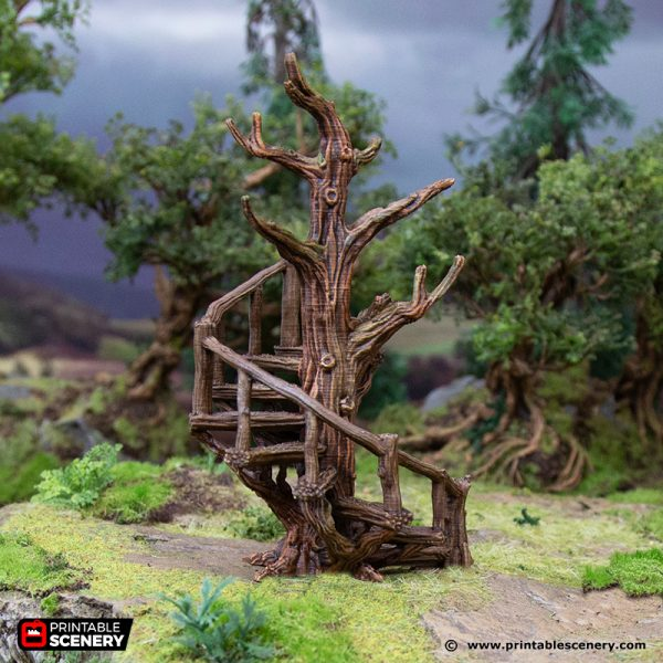 3D Printed Hagglethorn Hollow Stair Walkways Age of Sigmar Dnd Dungeons and Dragons frostgrave mordheim tabletop games kings of war warhammer 9th age pathfinder rangers of shadowdeep