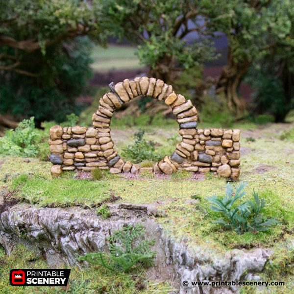 3D Printed Hagglethorn Hollow Stone Walls Age of Sigmar Dnd Dungeons and Dragons frostgrave mordheim tabletop games kings of war warhammer 9th age pathfinder rangers of shadowdeep