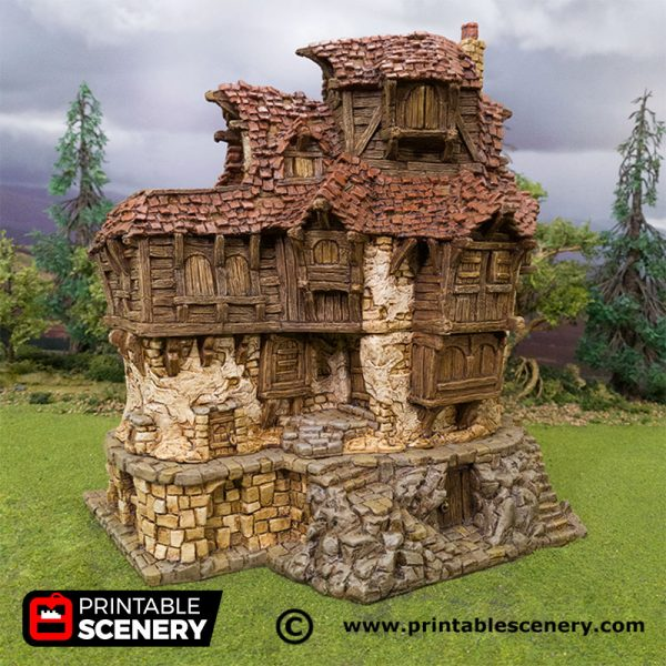 3D Printed Hagglethorn Hollow Tavern Age of Sigmar Dnd Dungeons and Dragons frostgrave mordheim tabletop games kings of war warhammer 9th age pathfinder rangers of shadowdeep