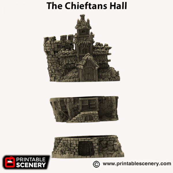 3d printed The Chieftans hall Hagglethorn Hollow