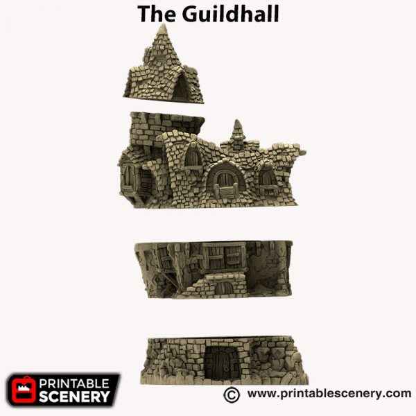 3d printed The Guildhall Hagglethorn hollow
