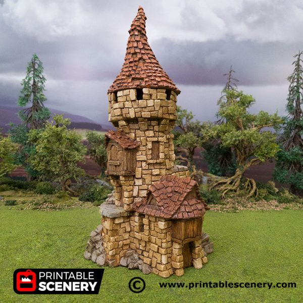 3D Printed Hagglethorn Hollow Tower Age of Sigmar Dnd Dungeons and Dragons frostgrave mordheim tabletop games kings of war warhammer 9th age pathfinder rangers of shadowdeep