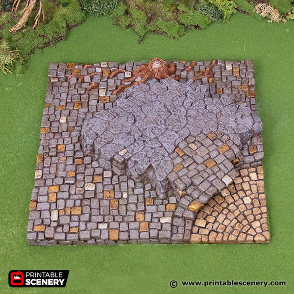 3D Printed Hagglethorn Hollow Town Square Tiles Age of Sigmar Dnd Dungeons and Dragons frostgrave mordheim tabletop games kings of war warhammer 9th age pathfinder rangers of shadowdeep