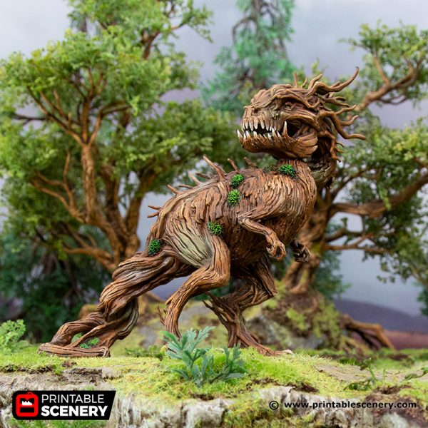 3D Printed Hagglethorn Hollow Tree Rex Age of Sigmar Dnd Dungeons and Dragons frostgrave mordheim tabletop games kings of war warhammer 9th age pathfinder rangers of shadowdeep