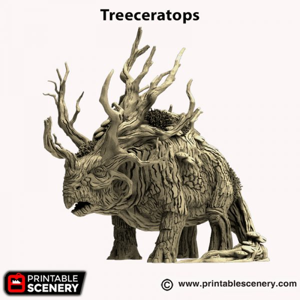 3d printed Treeceratops Hagglethorn Hollow