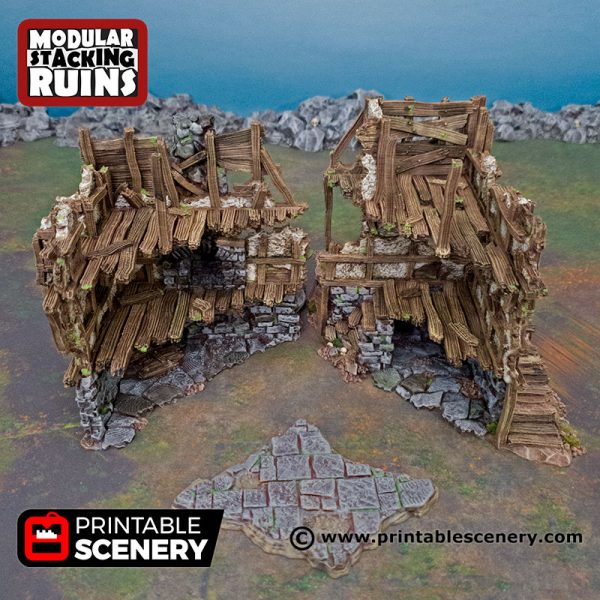 3D Printed mayors townhouse Age of Sigmar Dnd Dungeons and Dragons frostgrave mordheim tabletop games