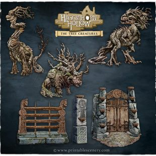 3D Printed Hagglethorn Hollow Wandering Woods Age of Sigmar Dnd Dungeons and Dragons frostgrave mordheim tabletop games kings of war warhammer 9th age pathfinder rangers of shadowdeep