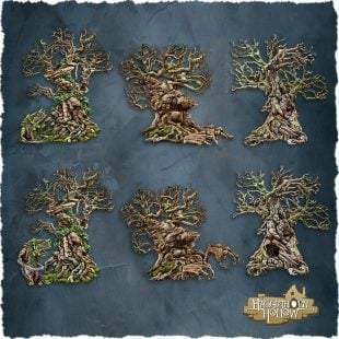 3D Printed Hagglethorn Hollow Sentient Trees Wandering Woods Age of Sigmar Dnd Dungeons and Dragons frostgrave mordheim tabletop games kings of war warhammer 9th age pathfinder rangers of shadowdeep