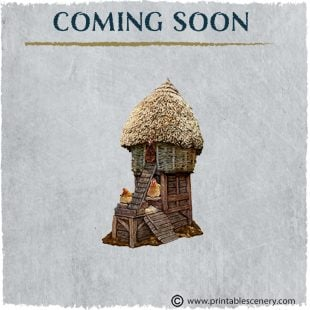 3D Printed Hagglethorn Hollow The Hens Tower Age of Sigmar Dnd Dungeons and Dragons frostgrave mordheim tabletop games kings of war warhammer 9th age pathfinder rangers of shadowdeep