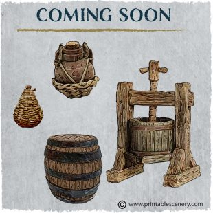 3D Printed Hagglethorn Hollow Winemakers Tools Age of Sigmar Dnd Dungeons and Dragons frostgrave mordheim tabletop games kings of war warhammer 9th age pathfinder rangers of shadowdeep